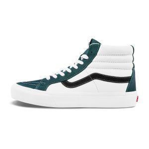 绿色/白色