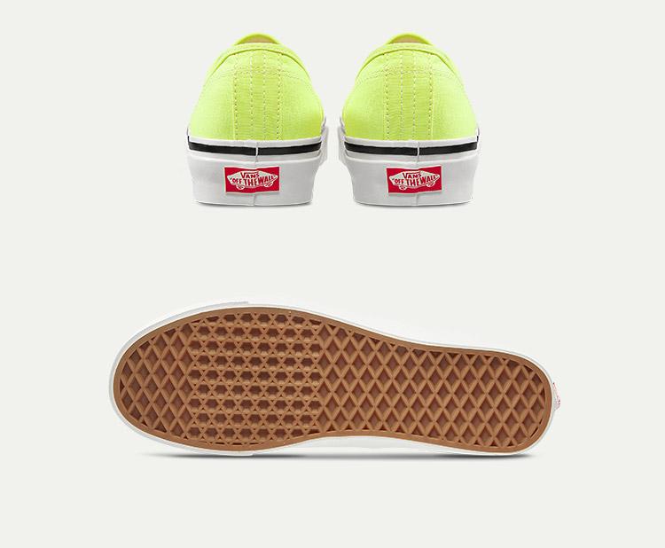 AUTHENTIC-44-DX荧光绿情侣款休闲鞋帆布鞋
