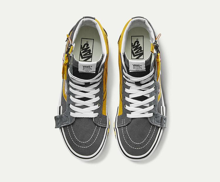 VANS(范斯)SK8-Hi-Reissue-CAP男女款板鞋(灰色/黄色)