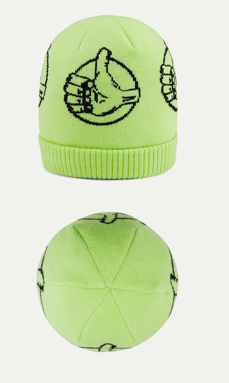 VANS(范斯)BMX-OFF-THE-WALL-CUFF-BEANIE男款帽子(荧光绿)