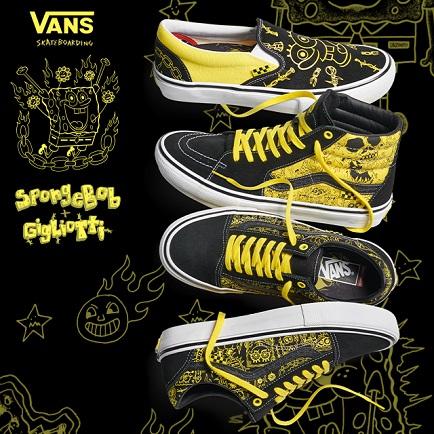 VANS X 《海绵宝宝》职业滑板鞋服系列
