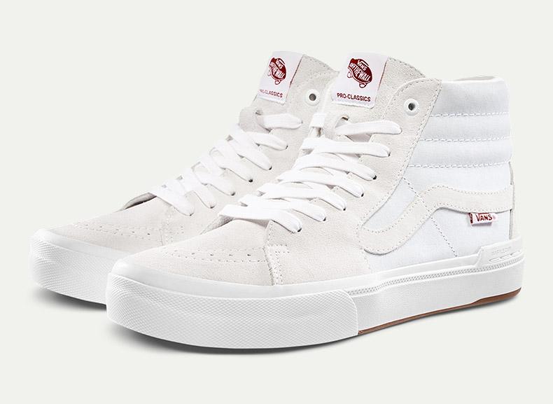 范斯高帮滑板鞋,可搭配vans时尚系带方法