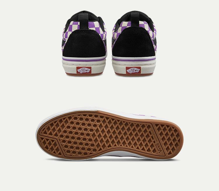 VANS(范斯)Kyle-Walker-Pro男款滑板鞋(黑色/紫白棋盘格)