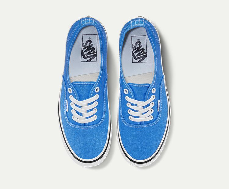 范斯AUTHENTIC-44-DX海蓝色情侣款休闲鞋帆布鞋